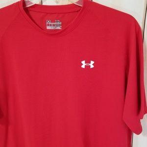 Under Armour Red Loose Fit Heatgear Tee Shirt XL